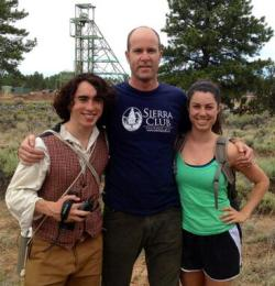 Izzy and Daniel with Sierra Club Exec Dir., Mike Brune
